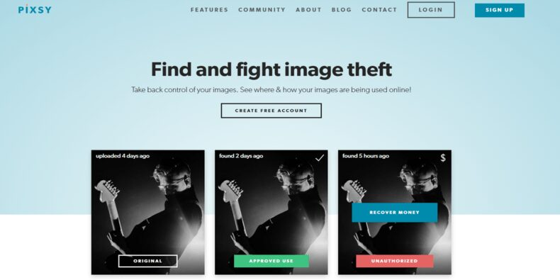 Pixsy - Reverse Image Search Website